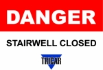 danger stairwell closed
