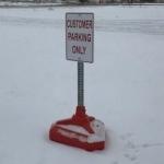 Portable Base Parking Lot Signs